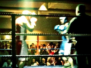 Fred boxing