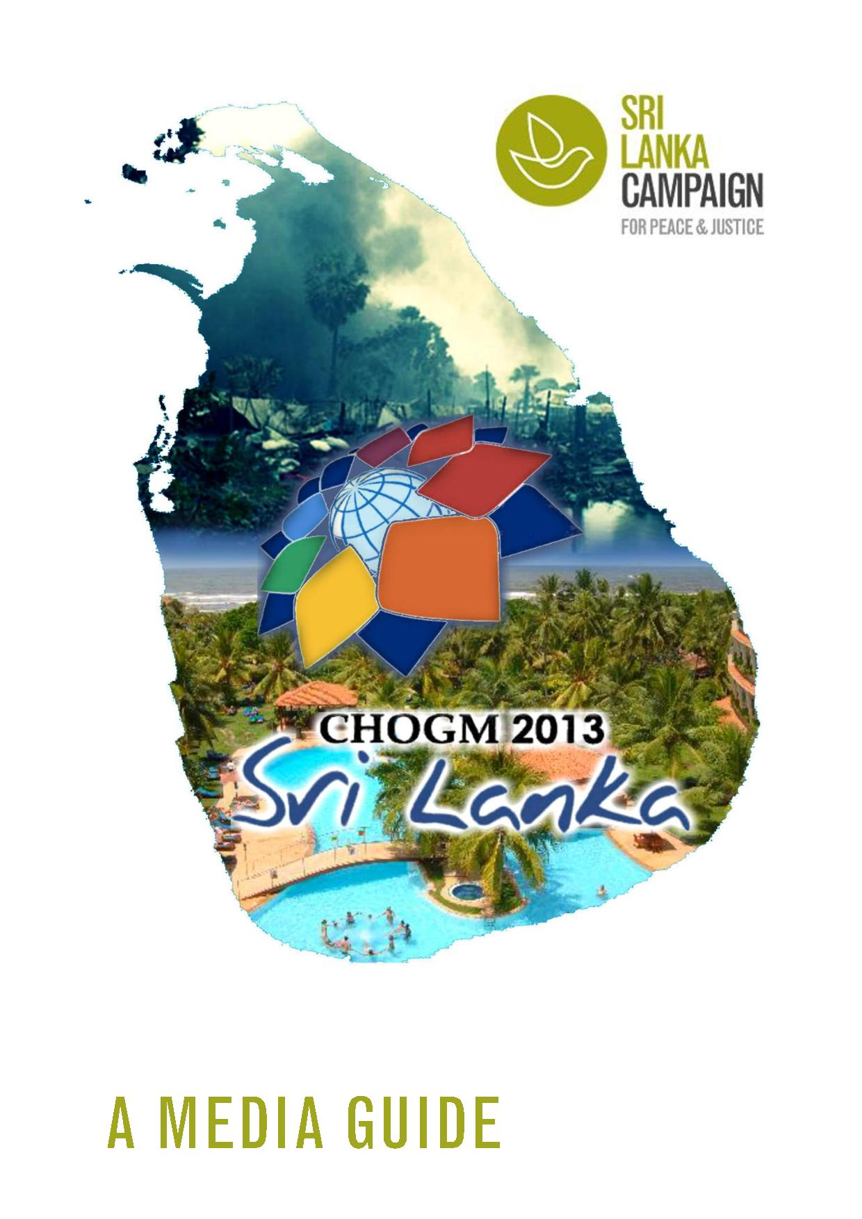 A Journalist's Guide to CHOGM, Sri Lanka Campaign and Human Rights Watch, November 2013