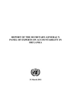 UN Panel of Experts Report on Accountability in Sri Lanka (aka the 'Darusman report'), March 2011