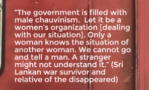 Sri Lankan war survivor quotes about transitional justice