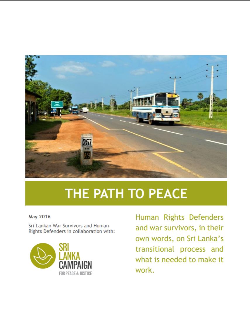The Path to Peace: War Survivor Views on what is Needed for Reconciliation, May 2016