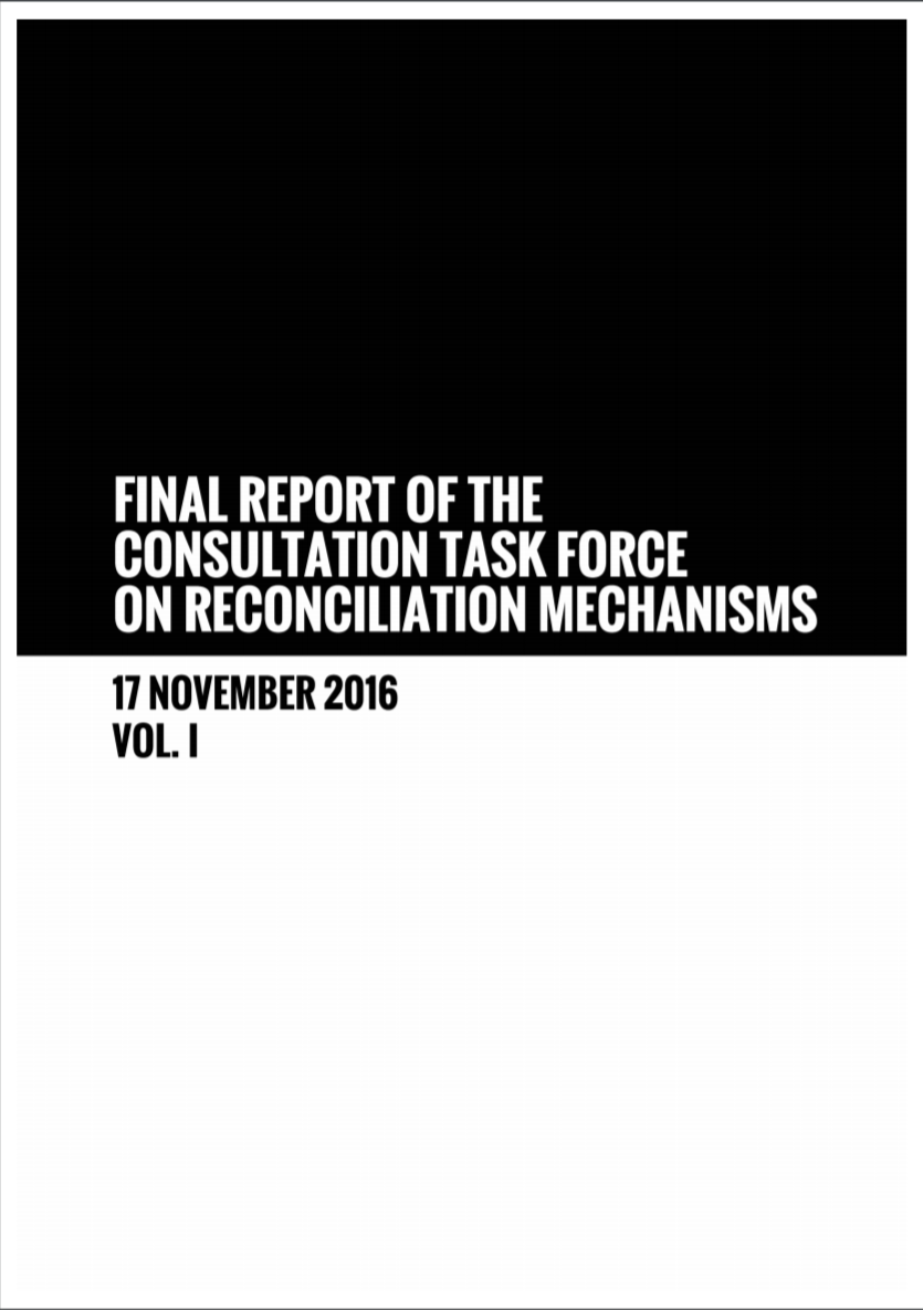 Final Report of the Consultation Task Force (CTF) on Reconciliation Mechanisms, November 2016