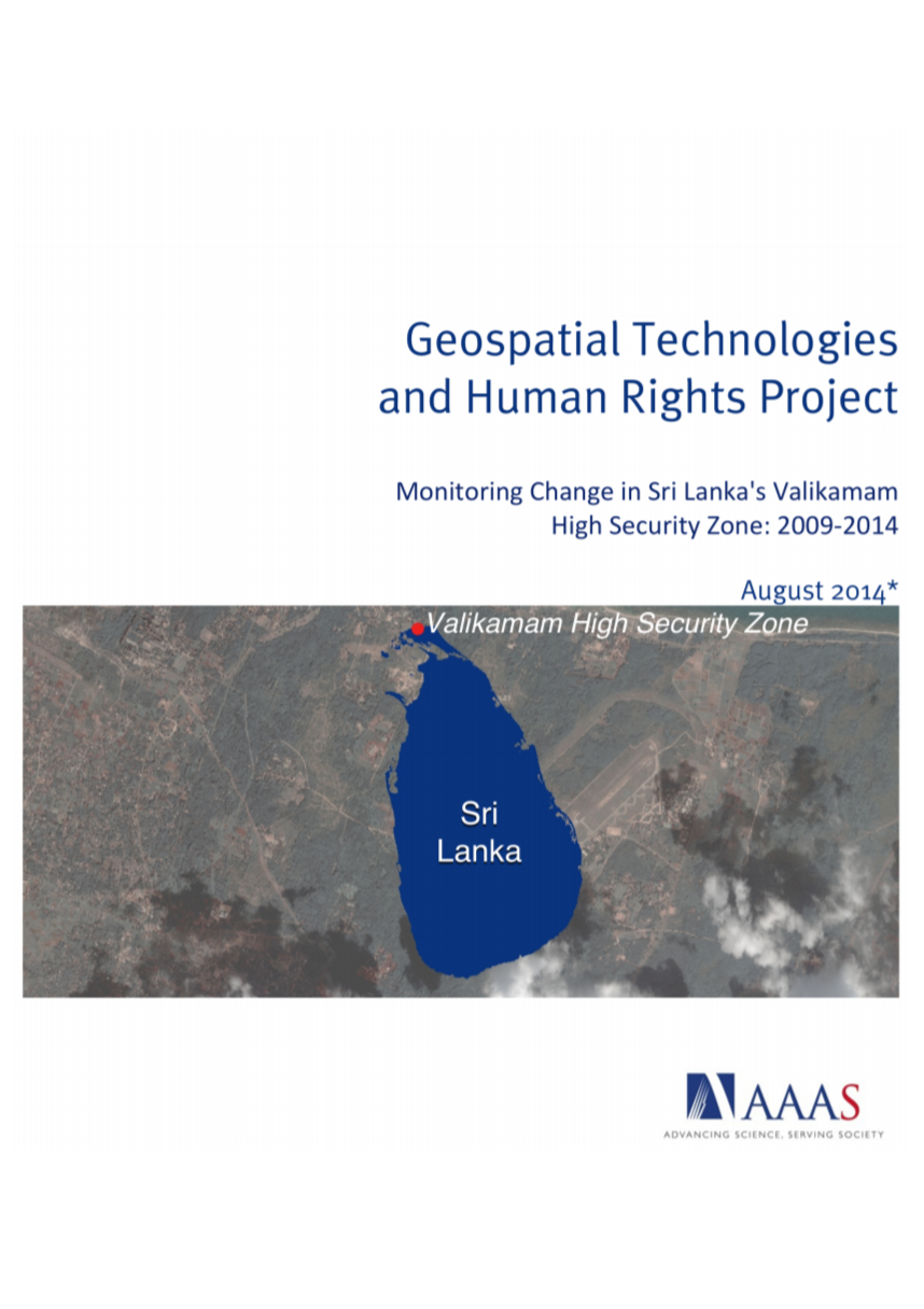 Monitoring Change in Sri Lanka's Valikamam High Security Zone: 2009-2014, August 2014